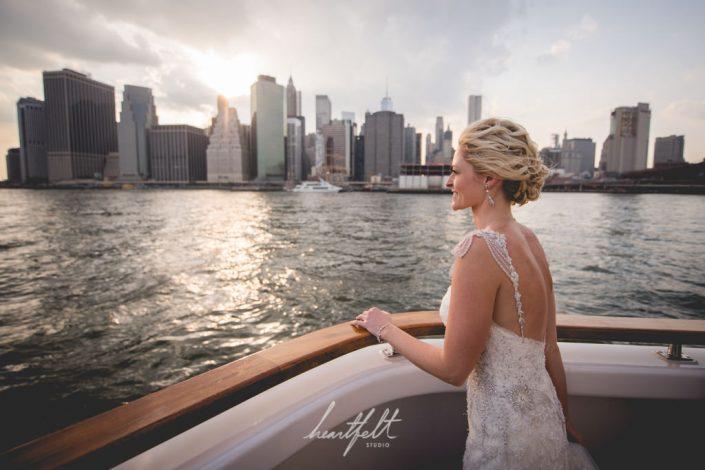bride wedding yacht - NYC