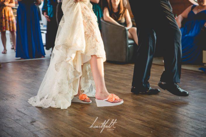 bride's shoes - yacht wedding