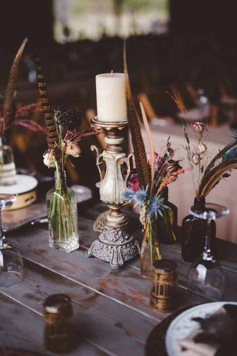 bohemian wedding centerpiece - handsome hollow