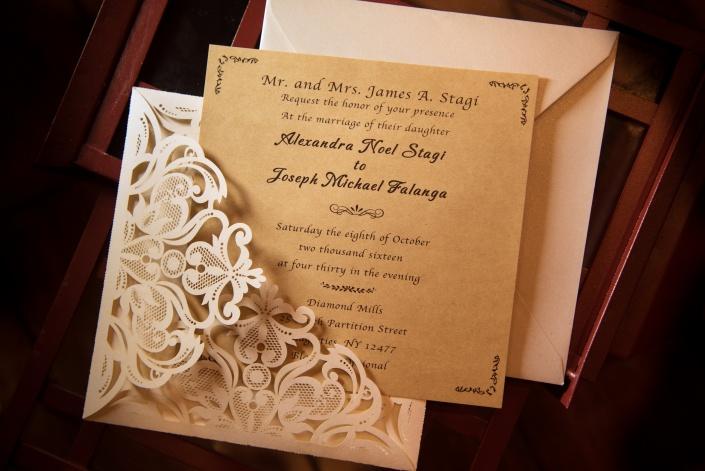 invitation - diamond mills wedding