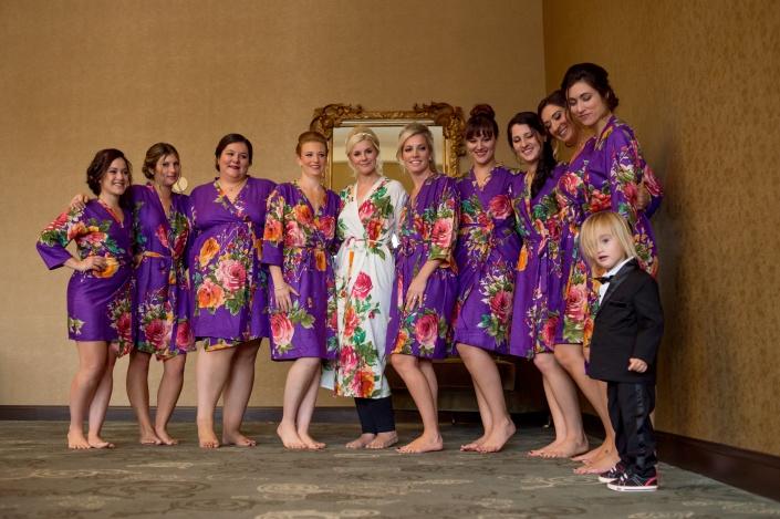 bridal party - diamond mills wedding