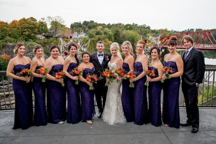 bride and groom - diamond mills wedding