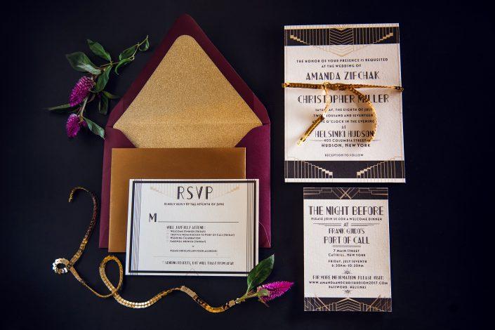 invitation suite - hudson ny wedding