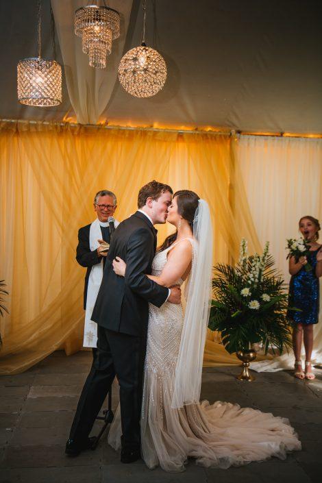 tent ceremony - hudson ny wedding