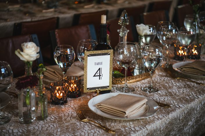 table setting - hudson ny wedding