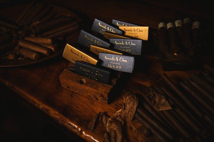 cigar matchbooks - hudson ny wedding