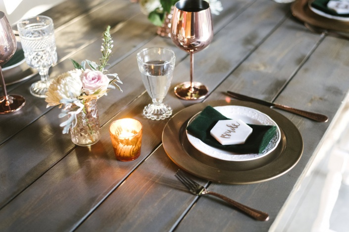 place setting - farm wedding