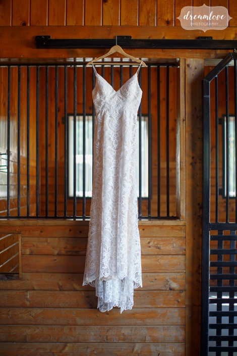 wedding dress details - barn at liberty farms - hudson ny