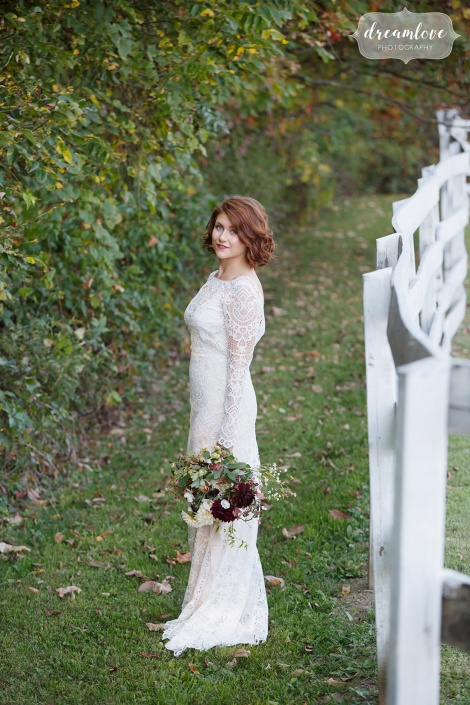 bride - farm wedding - hudson ny