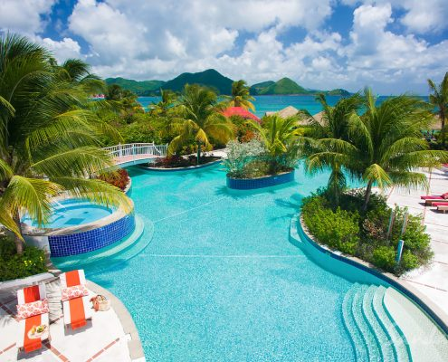 sandals st lucia pool