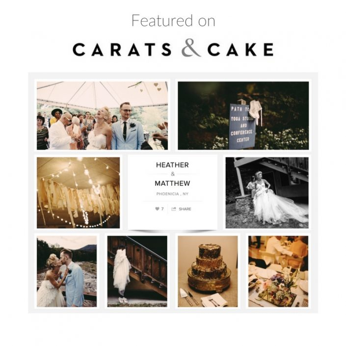 carats and cake featured wedding