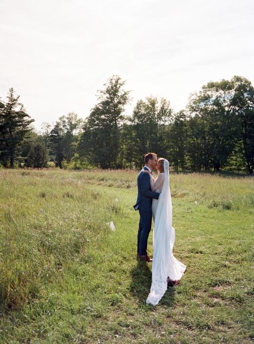 bride and groom - hayfield wedding