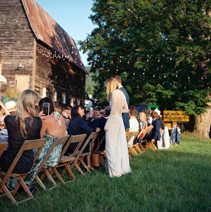 outdoor dining - Hudson valley wedding - hayfield wedding