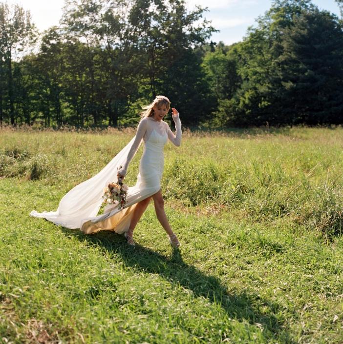 post ceremony bride - hayfield Catskills