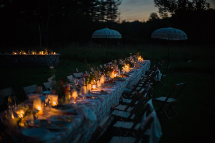 reception tables - hayfield Catskills