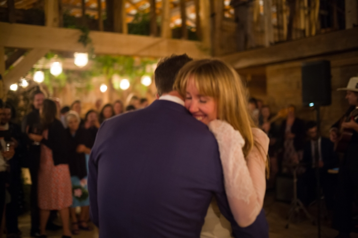bride and groom dance - hayfield wedding