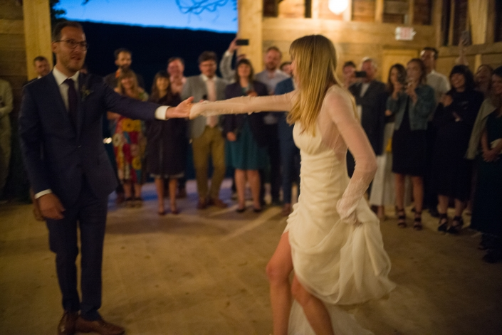 dancing bride - hayfield Catskills