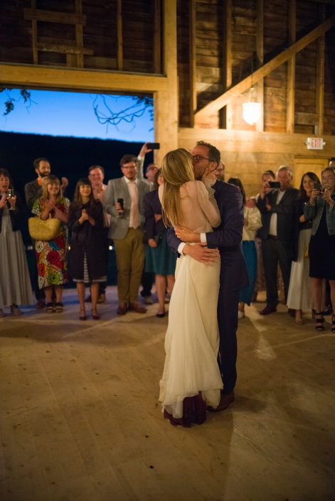 first dance - barn wedding