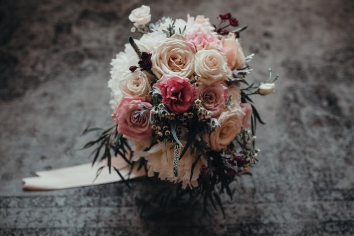 modern and romantic blush bouquet - senate garage