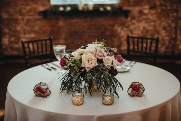 sweetheart table at the senate garage