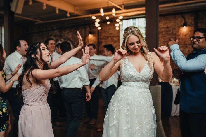 bride dancing on her wedding day