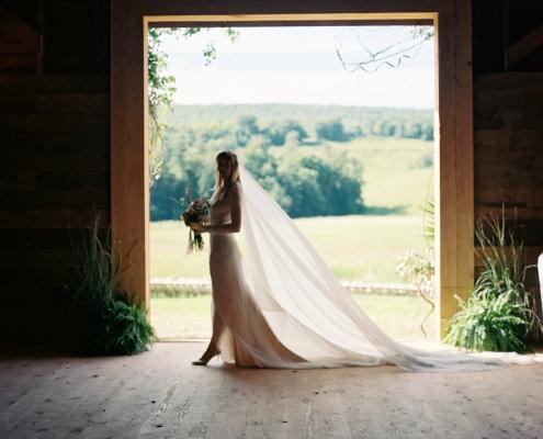 Hayfield Catskills - vera wang gown