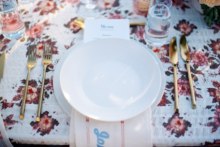 place setting - hayfield wedding