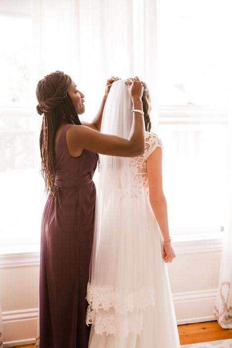 bride getting ready hudson ny