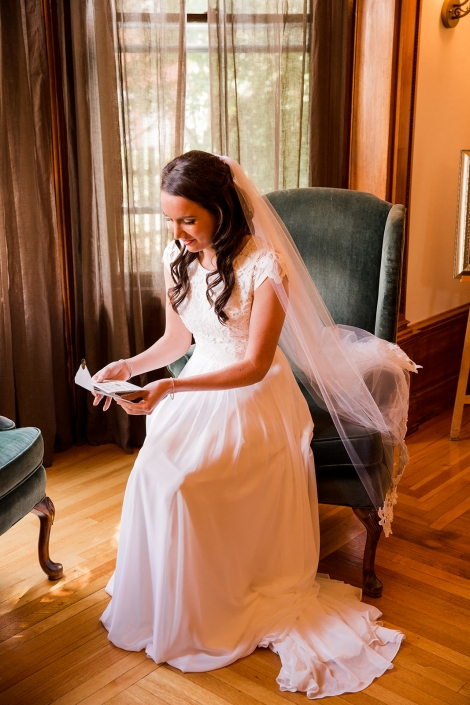 bride reading note