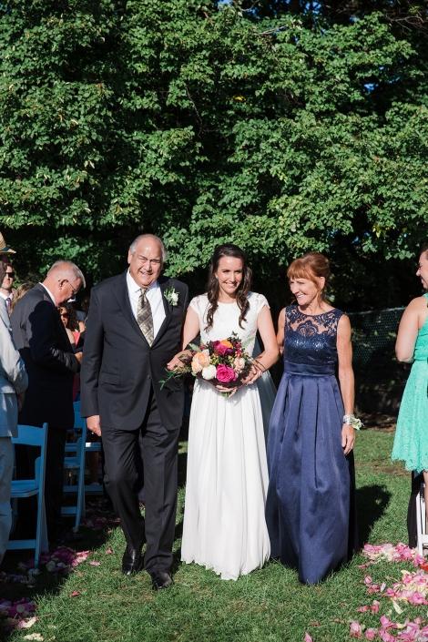 wedding in Hudson NY park