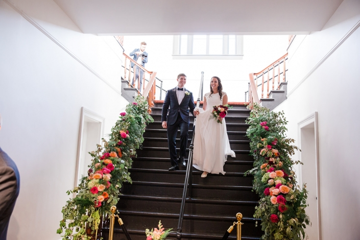 Hudson hall wedding staircase