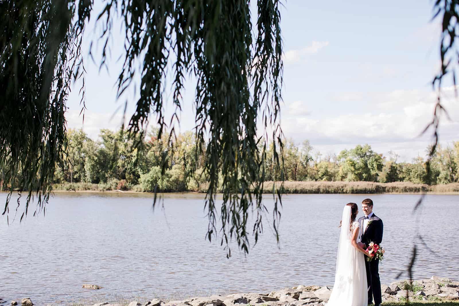 Hudson River wedding ceremony