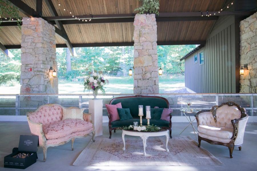 Lounge wedding at mohonk