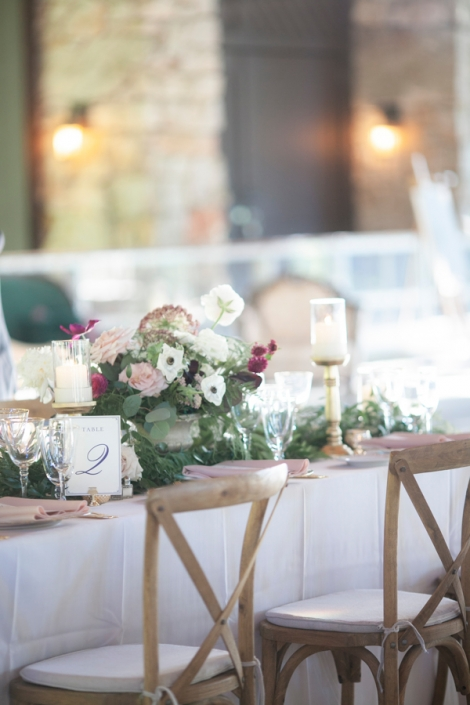 reception flowers- Mohonk Mountain House