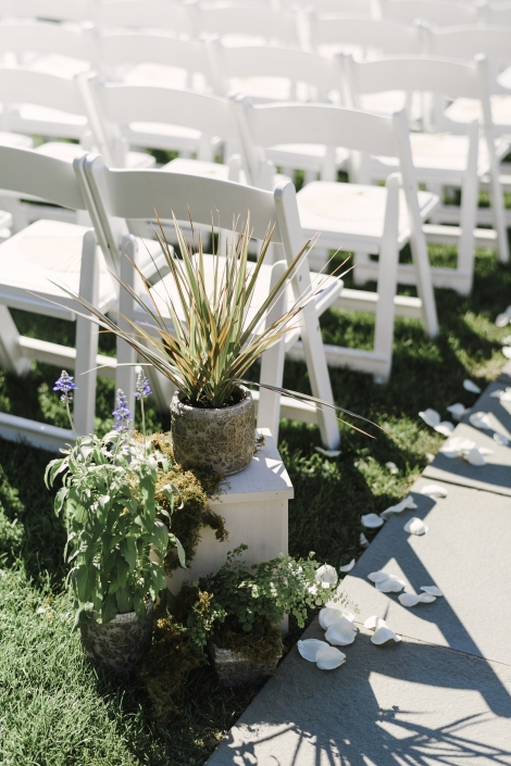 potted plants wedding at the garrison