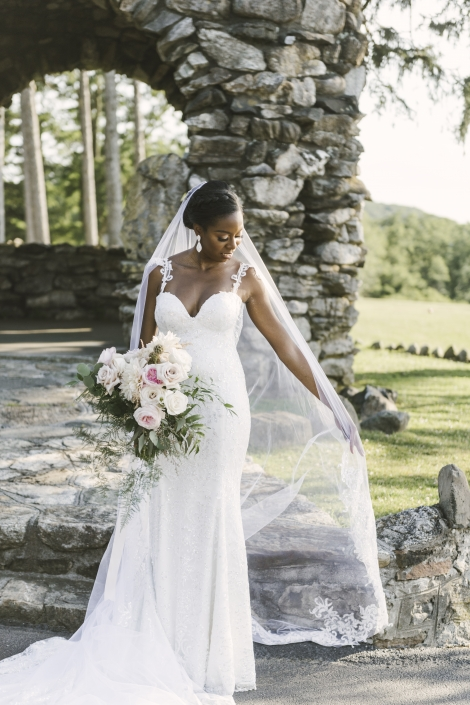 bridal gown and veil - garrison ny