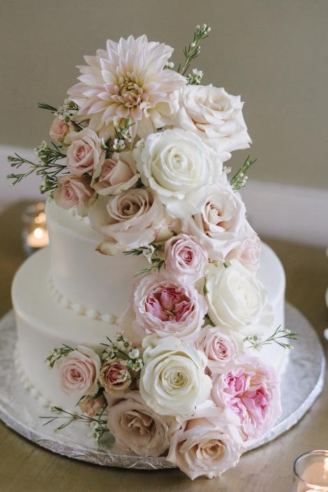 pastry garden wedding cake