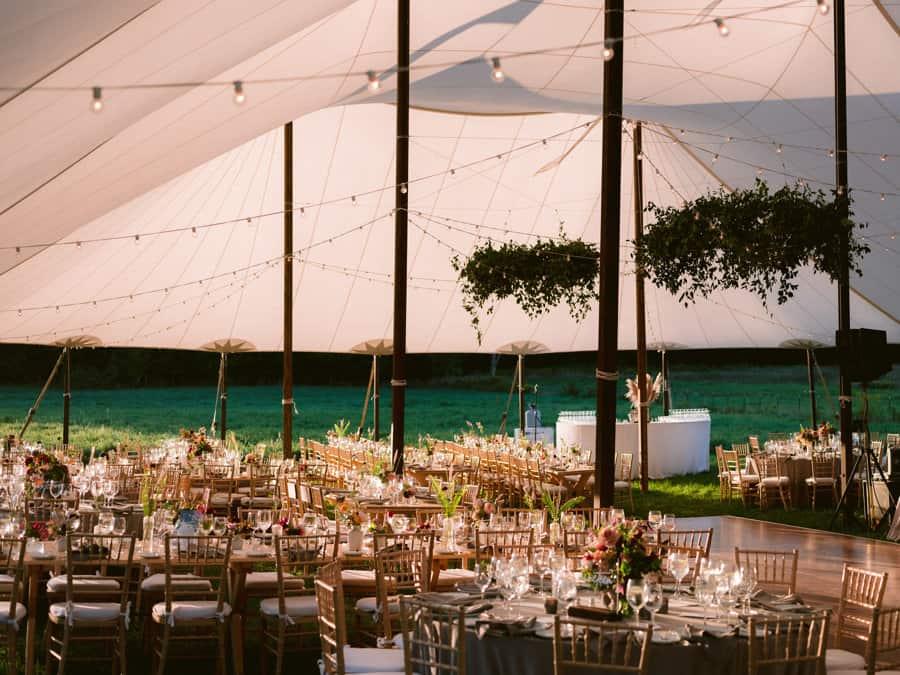 tent wedding hayfield Catskills -barn venue