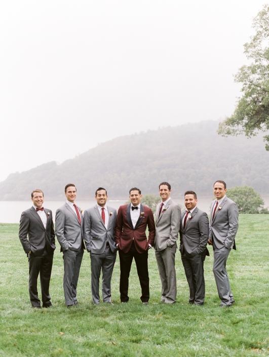 groomsmen at Monteverde at Oldstone