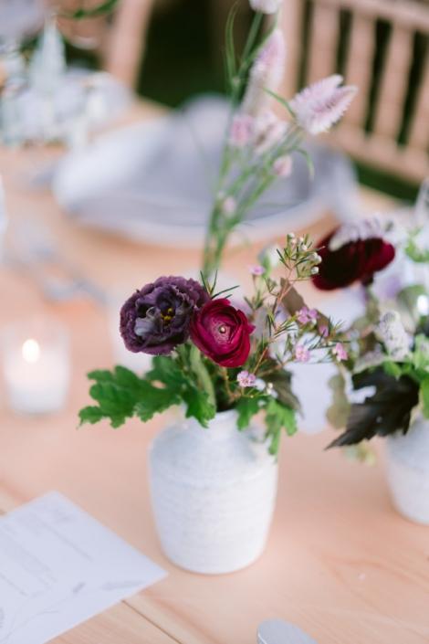 bud vase on reception table