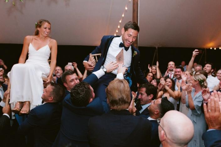 hora dance tent wedding at Hayfield