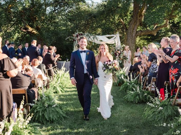 outdoor wedding ceremony at Hayfield Catskills barn