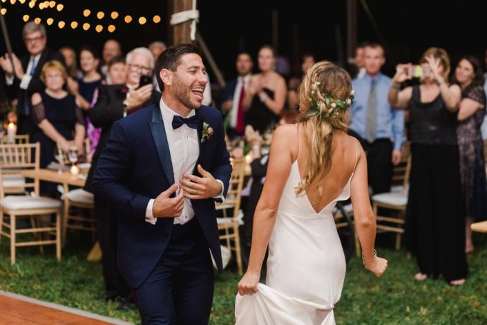 dancing tent wedding at Hayfield