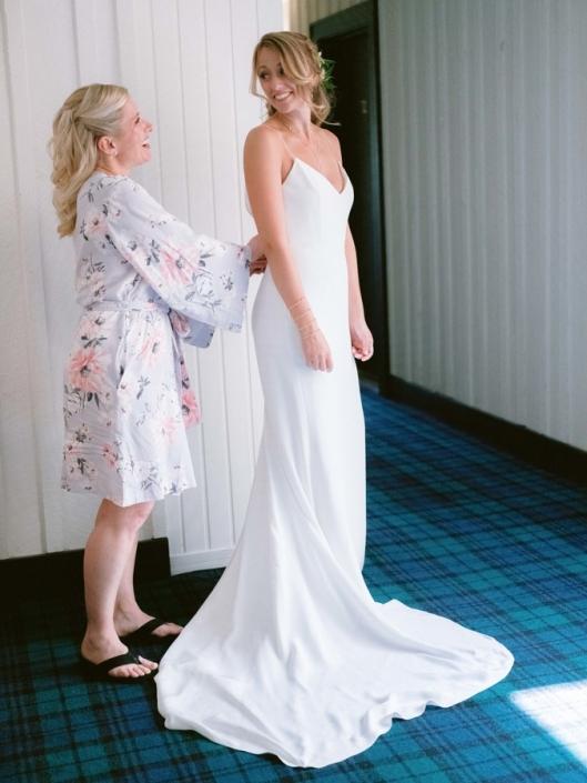 wedding gown - bride at scribner's