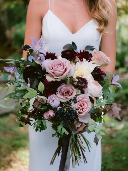 wedding bouquet by Hops Petunia - Hayfield barn wedding