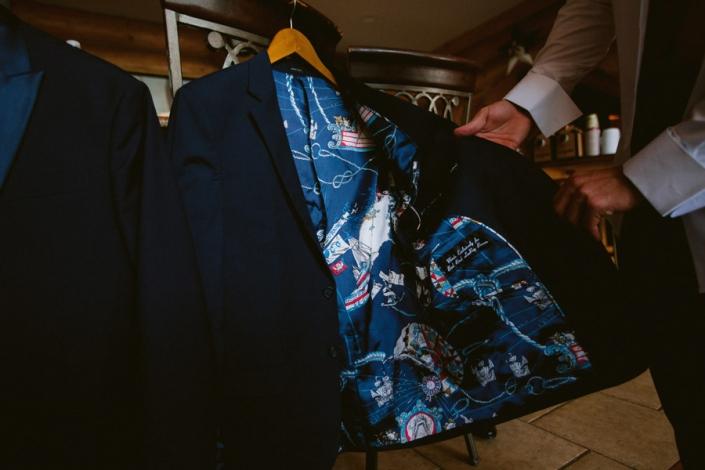 grooms suit custom made hayfield wedding