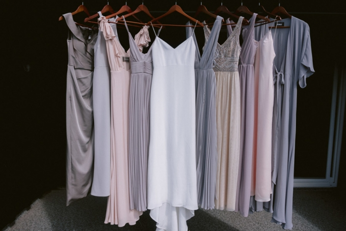 bridesmaids dresses at Hayfield Barn