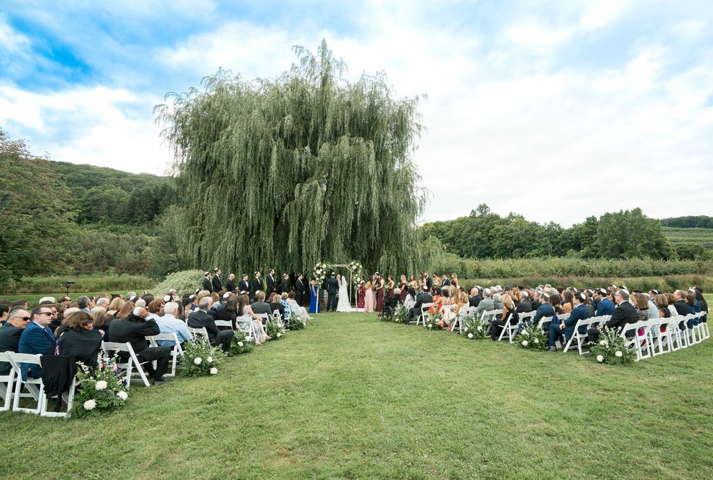 wedding ceremony at Nostrano Vineyards Wedding