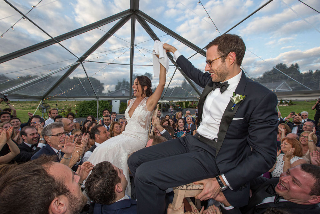 tent reception wedding at Nostrano Vineyards
