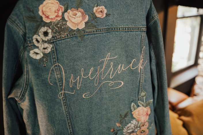 jean jacket wedding embroidery